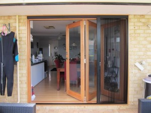 Brio Retractable Screens with Bi Fold Door & Flyscreens | Harvest Doors