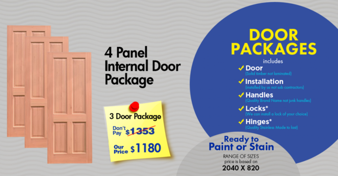 3 door special 4 panel internal door